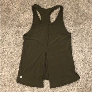 Lululemon silky green tank that ties in back